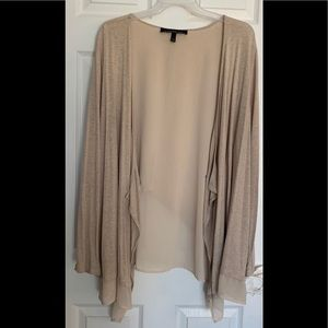 Lane Bryant hi-lo Layered Open Front Sweater 22/24